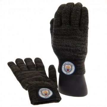 Manchester City Luxury Touchscreen Knitted Gloves (Adults)